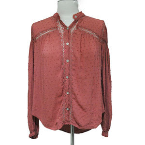 Women's Free People Dark Dusty Red Colored Top